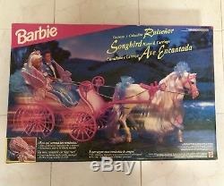 1995 RARE BARBIE Songbird Horse & Carriage NEW and SEALED