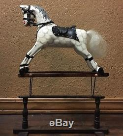 Antique Vintage Rare Authentic Models Toy Wood Glider Rocking Horse. 7