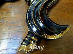 BEAUTIFUL & RARE Vintage 50s 60s Prancing ZEBRA Horse w LONG TAIL Wall Plaque