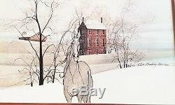 Fab Rare! Vintage P. Buckley Moss Signed 1978 Copyright 1977 Framed Horse Print