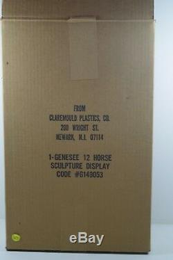 Genesee 12 Horse Ale Vintage 3-d Beer Advertising Sign New With Box Vintage Rare