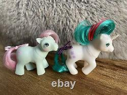 Hasbro LOT OF 19 G1 Vintage My Little Pony Plus Accessories From A Smoker's Home