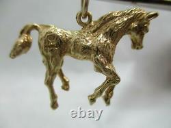 Large Vintage 9 Ct Gold Rare Horse Heavy Charm