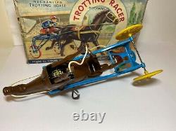Louis Marx Trotting Racer Horse & Rider In Its Original Box Excellent Rare
