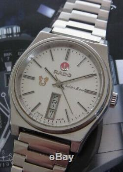 Nice & Rare Vintage Rado Golden Horse Day/date Automatic Swiss Made Watch