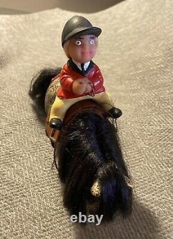 Plastech Thelwell Pony Horse & Rider Penolope 1960-70 Extremely Rare Vintage Toy