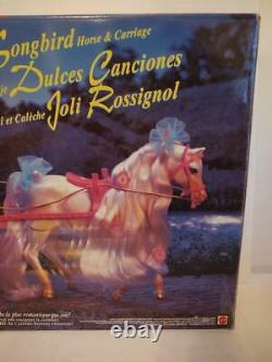 RARE 1996 Mattel Barbie Songbord Horse and Carriage Play Set New in Box
