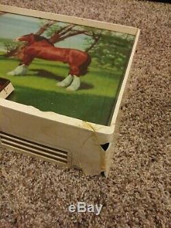 RARE VINTAGE BUDWEISER KING OF BEERS CLYDESDALE Light Up Electric Horse Sign