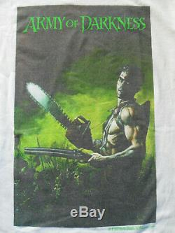 RARE VTG 1992 ARMY OF DARKNESS T-SHIRT JOHN BOLTON Dark Horse SIZE L Pre Owned