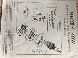 RARE Vintage 1959 AC Spark Plugs IDEAL Dealer Display SPARKY Horse Blow Up Toy