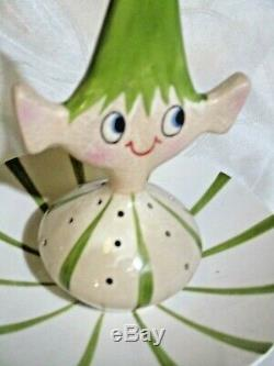 RARE Vintage 1959 Holt Howard Party Pixieware Boy Hors D'Oeuvre Dish MCM Kitsch