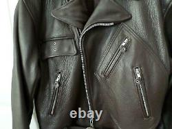 RARE Vintage IRON HORSE LEATHER MOTORCYCLE JACKET Size Lg One Of A Kind
