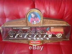 RARE Vtg Budweiser Clydesdale Horse Hanging Bar Sign Party Store Display Derby