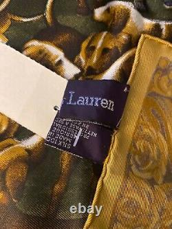 Rare Hard 2 Find Vintage 100% Silk Scarf Ralph Lauren Collectors New With Tags