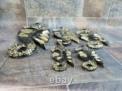 Rare Set of 5 Vintage 1950s Sea Horse Family Lucite Acrylic Wall Plaques