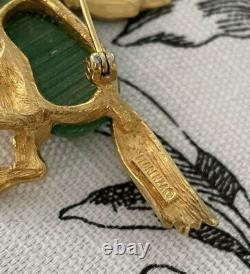 Rare Signed Fiorenza PARIS Vintage Pin Brooch Gripoix Winged Horse