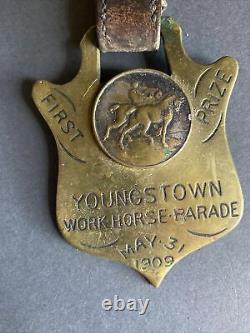 Rare Vintage 1909 Youngstown WORK HORSE PARADE Association FIRST PRIZE Medal N