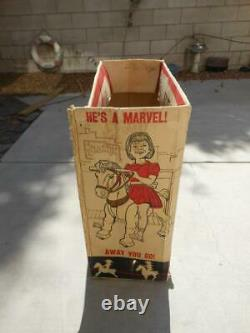 Rare Vintage 1967 Marx Toy Marvel The Mustang Horse Ride In Original Box