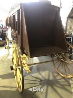 Rare Vintage Antique Overland Stage Express Stagecoach Horse Carriage Concord