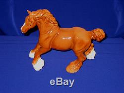 Rare Vintage Beswick Cantering Shire Horse