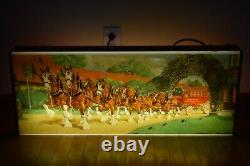 Rare Vintage Budweiser Beer Lighted Sign Clydesdale Horse 1950's & Michelob