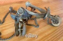 Rare Vintage Goucho Spurs All Original Double Rowel AWESOME! Horse Tack Brass