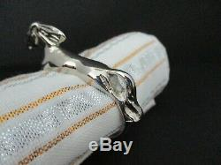 Rare Vintage Gucci Equestrian Set Of 6 Horse Napkin Rings