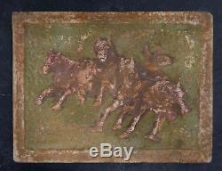 Rare Vintage Markoff Tile with Horses