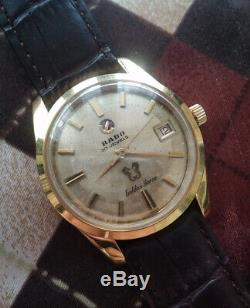 Rare Vintage Rado Golden Horse Automatic 30 Jewels Swiss Made Gold Tone Watch