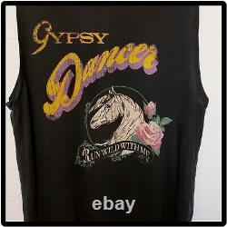Rare Vintage SPELL And The Gypsy Black Gypsy Dancer Tee Shirt Size Medium M