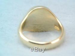 Rare Vintage Solid 18k Gold Horse Intaglio Wax Seal Stamp Ring Larter & Sons