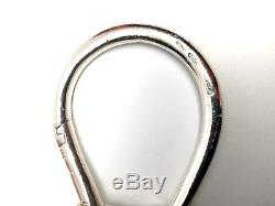 Rare Vintage Tiffany & Co Sterling Silver Horse Keyring Keychain Italy