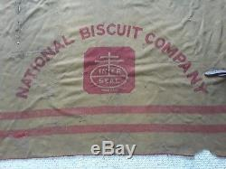 Rare early 1900's vtg. NATIONAL BISCUIT COMPANY advertising large horse blanket