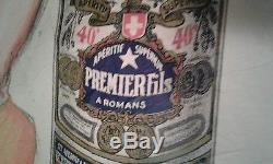 Robys Premier Fils Absinthe vintage French poster 1936 jockey horse racing rare