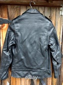 Schott NYC PERFECTO LEATHER PER- 2 VINTAGE HORSE HIDE MADE IN USA RARE NEW
