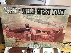 TIMPO TOYS VINTAGE USA 7th CAVALRY BOXED 1st ISSUE WILD WEST FORT SET RARE