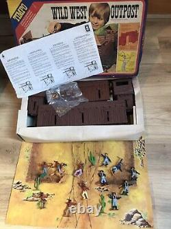 TIMPO TOYS VINTAGE USA 7th CAVALRY & INDIAN BOXED WILD WEST OUTPOST FORT RARE