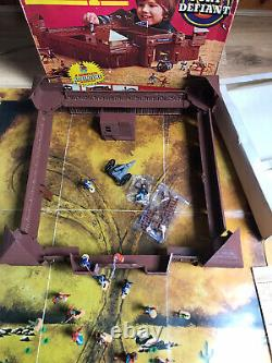 TIMPO TOYS VINTAGE US 7th CAVALRY & INDIAN BOXED WILD WEST FORT DEFIANT SET RARE