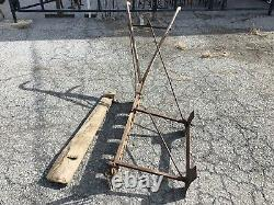 The Ice King Antique Horse Drawn Ice Saw WM. T. Wood & Co RARE Farm Plow Vintage