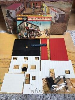 Timpo Toy Vintage Us American Wild West City Boxed Almost Complete Set Very Rare
