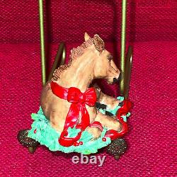 Tom Rubel Christmas Animals Colt Pony Foal Horse RARE Vintage
