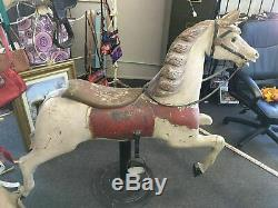 VINTAGE ARMITAGE HERSCHELL CAROUSEL TRACK HORSE Beautiful & Rare! Late 1800's