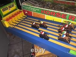 VINTAGE HORSE RACING GAME SHINSEI 3102 JAPAN BATTERY OPERATED ANTIQUE RARE & Box