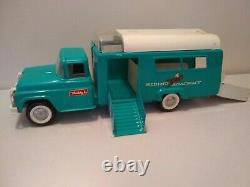 Vintage 1960s Buddy L Riding Academy Truck Corral & Horses Rare Complete set