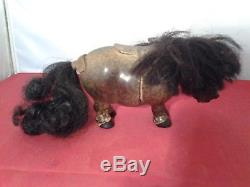Vintage 1960s Plastech Thelwell Pony Model Horse with Rider + Tack RARE