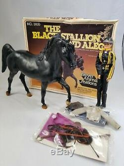 Vintage 1981, RARE, The Black Stallion And Alec, Horse & Accessories No. 3000