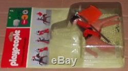 Vintage 70's RARE Playmobil Klicky Playpeople MEDIEVAL KNIGHT & HORSE Marx MOSC