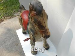 Vintage Antique D. Sebel & Co. Mobo Bronco Pressed Steel Toy Riding Horse Rare