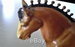 Vintage Breyer Glossy No Muscles Clydesdale #80 Horse desk lamp nightlight RARE