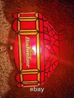 Vintage Budweiser Beer Wall Sconce RARE clydesdale horse head bar lighted sign